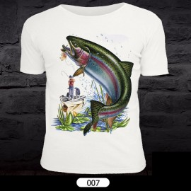 Fish Pattern T-Shirt for Fishing 007