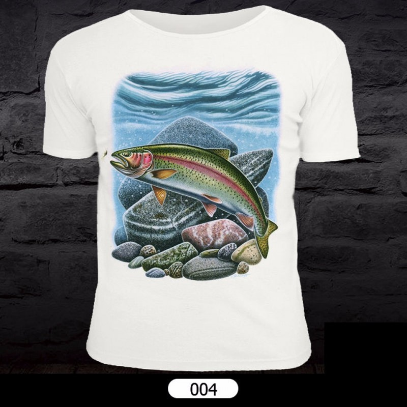 Fish Pattern T-Shirt for Fishing 004