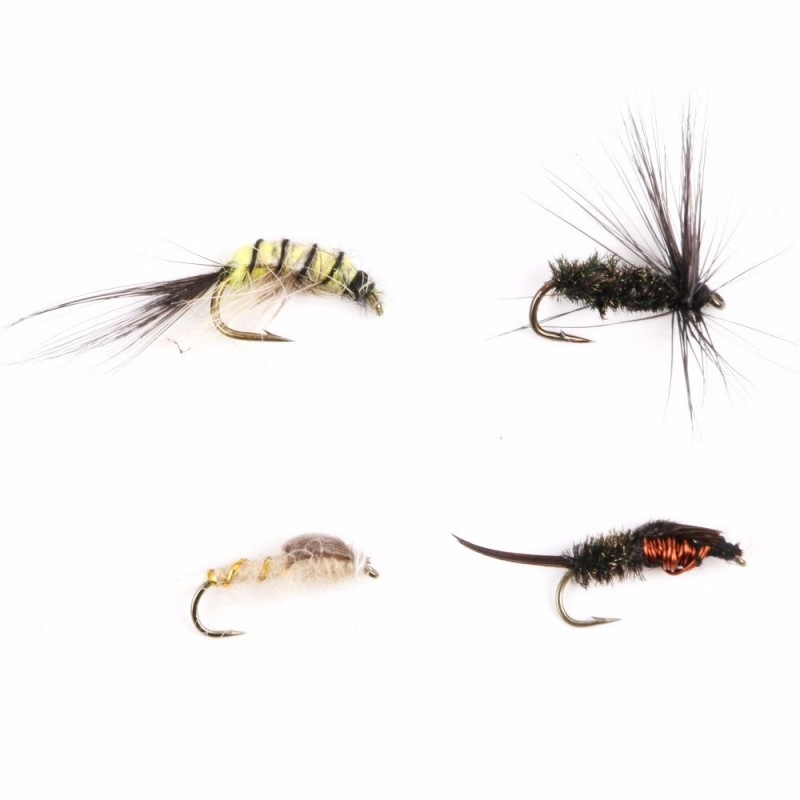 Nymph and wet fly flies 12 hook assortment for fly for Fly fishing kits