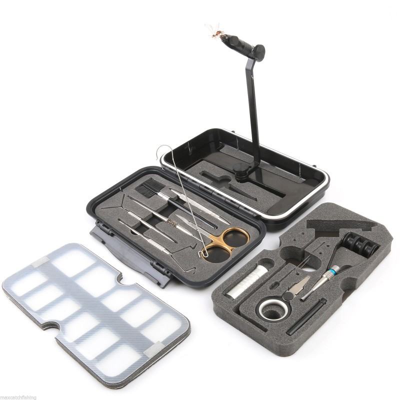 Whole combo fly tying tool set traveller tackle kit for Fly fishing combo kit
