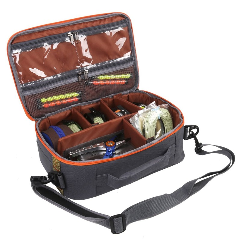 Fly fishing reel and gear bag reel case 15 2 x 10 1 x 5 1 for Fly fishing bag
