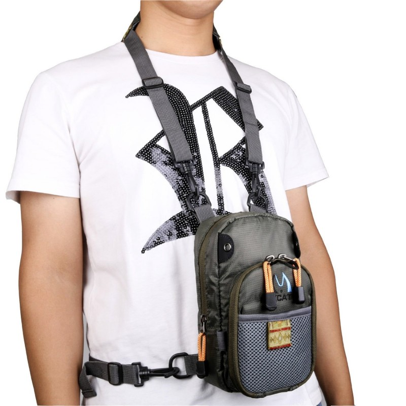 Fly fishing chest bag lightweight chest pack for Fishing chest pack