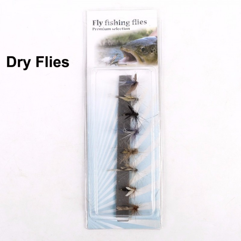 Fly Fishing Dry Flies 14 Assortment 8 Patterns Deluxe Kit