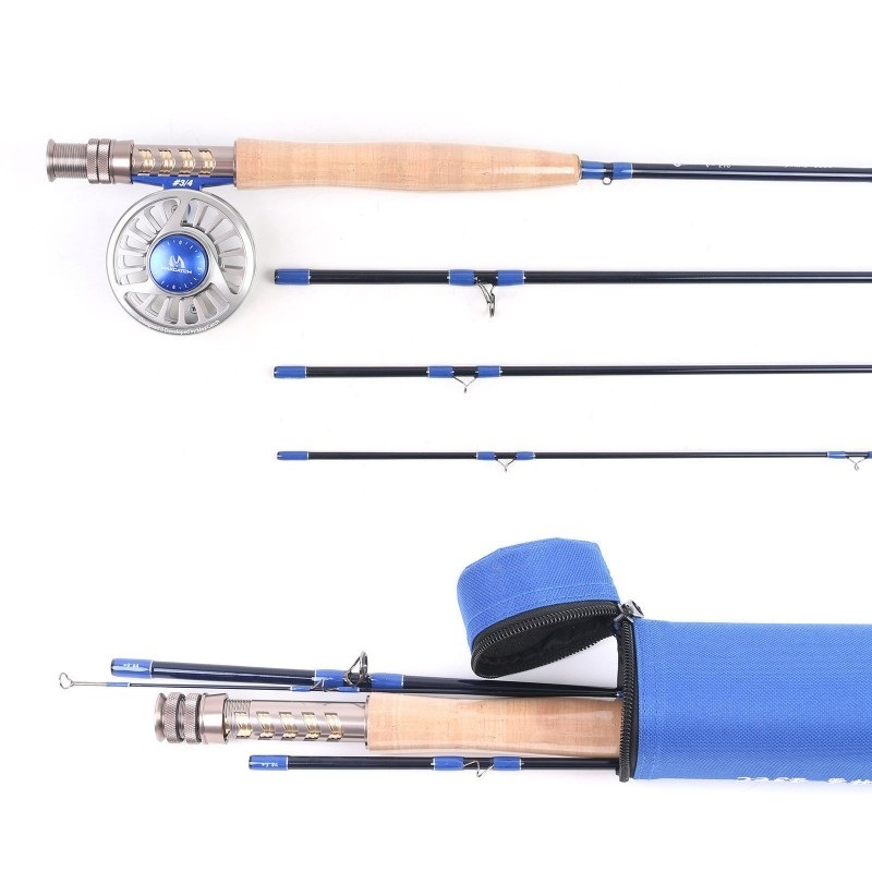 Fly fishing rod combo 9 39 4wt graphite im10 3 4wt cnc for Fly fishing rod and reel combo