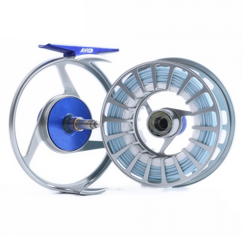 Avid saltwater 7 8wt fly reel with 100ft wf8f weight for Saltwater fly fishing reels