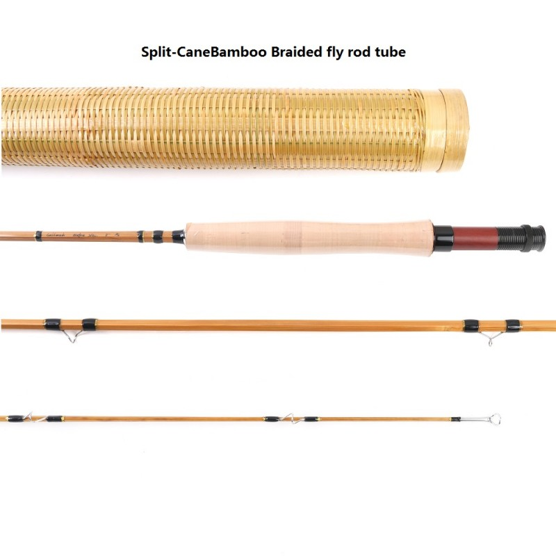 Split cane bamboo 8ft 6wt fly fishing rod unique hand made rod for Bamboo fishing rods