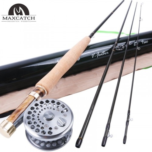 "Best Professional 2WT Fly Rod 6'6"" Medium-Fast Fly Fishing Rod & Classic Fly Reel"
