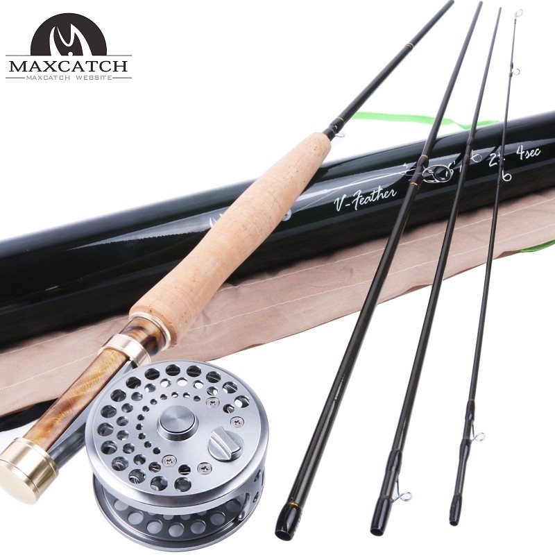 2wt fly rod and reel combo 6 39 6 medium fast fly fishing for Best fly fishing rods