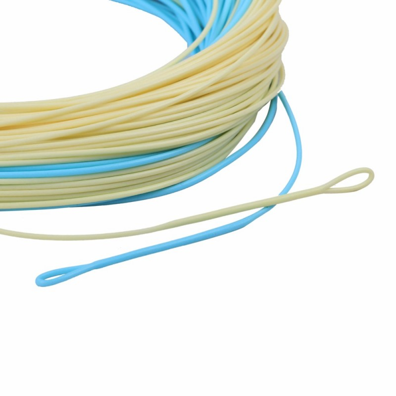 Bonefish fly line 100 ft 5wt 8wt sand blue color with 2 for Best saltwater fishing line color