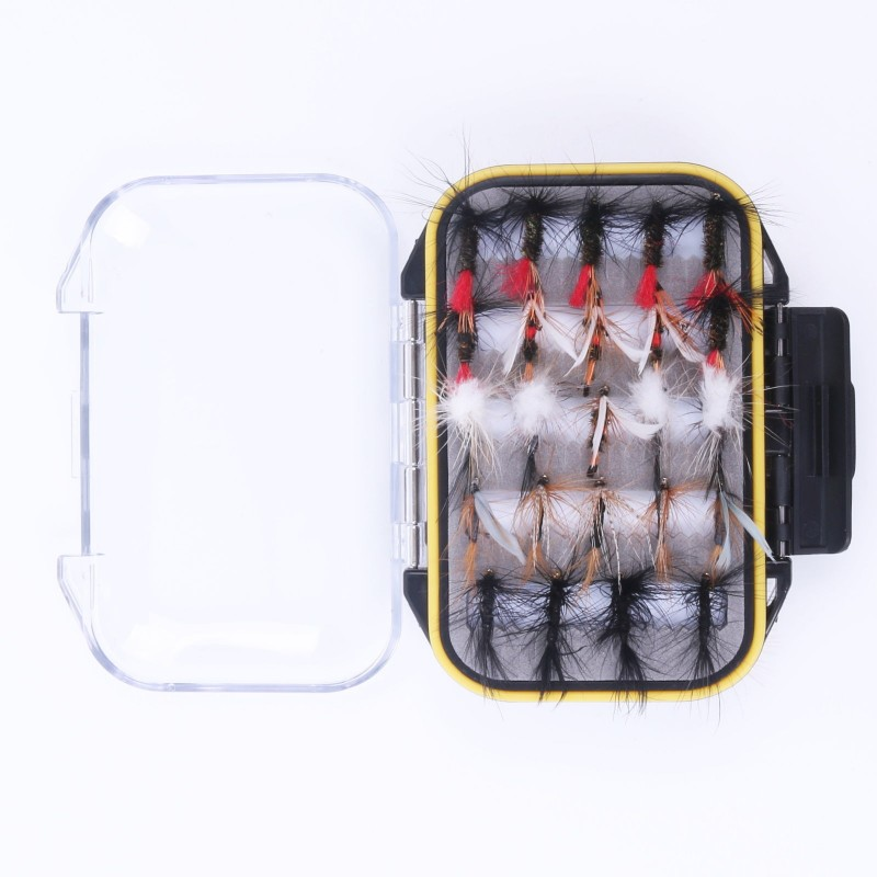 Fly box with trout flies water proof plastic fly fishing for The fishing fly box