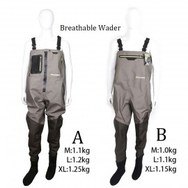 Outdoor Stocking Foot Light Weight Breathable Fly Fishing Wader Waterproof Wading Pants