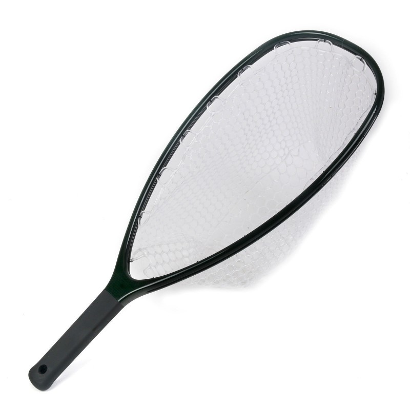 Fly Fishing Landing Net Clear Rubber Net Carbon Frame Nomad Hand Strong & Light