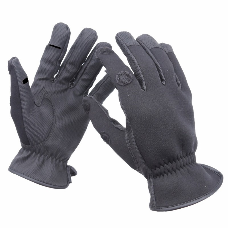 1 pair neoprene fishing gloves elastic waterproof anti for Neoprene fishing gloves