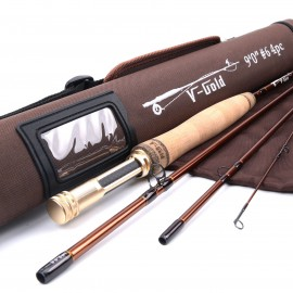V-Gold 4Piece Fast Action Fly Fishing Rod<Lifetime Warranty>