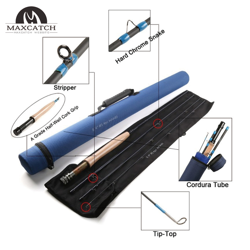 Champion Design Competition NANO A-Helix Core Carbon Fast Action Fly Rod<Lifetime  Warranty>