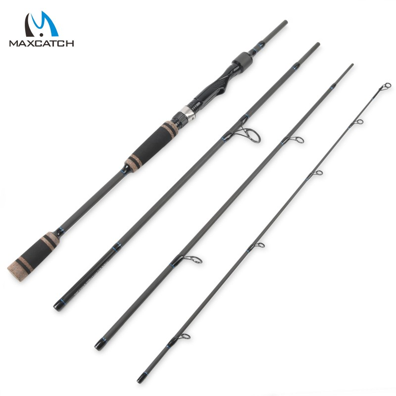 7 39 0 spinning rod 4sec portable travel fishing rod for Fishing rod reviews