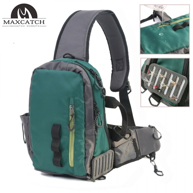 Splash waterproof fly fishing sling bag multi purpose for Fishing sling pack