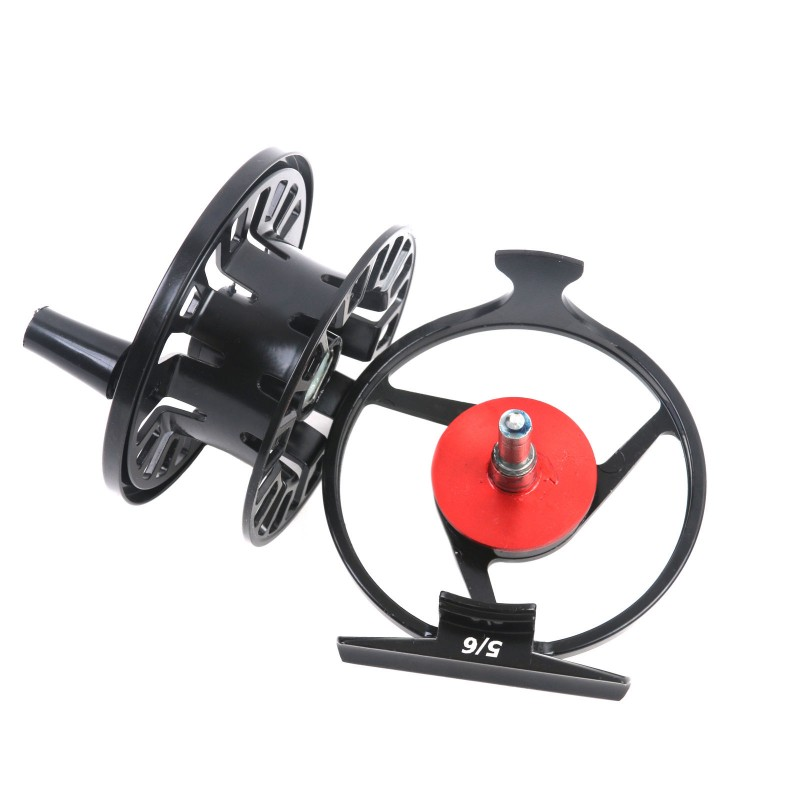 Right left handed die casting aluminum black fly fishing reel for Left handed fishing reels