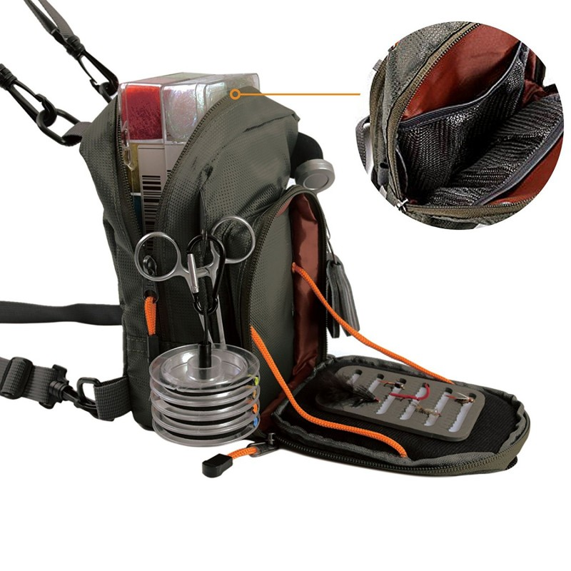 Fly fishing chest bag lightweight chest pack for Fly fishing packs