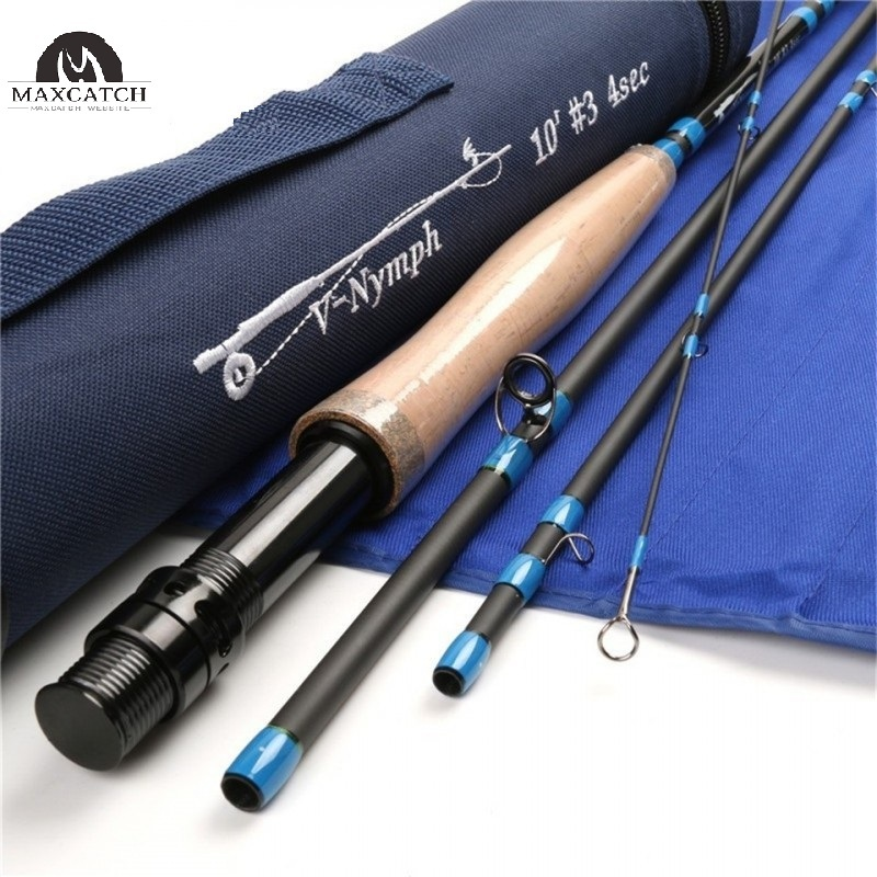 Nymph 4 piece im10 carbon nymph rod fly fishing with for Fly fishing rods