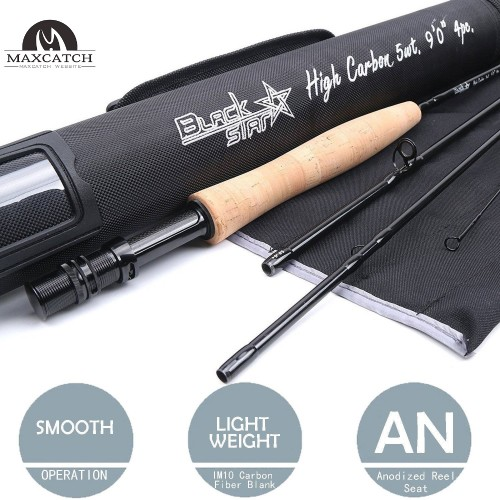 Black Star Top Grade 9FT 4SEC Fast Action Carbon Fiber Fly Rod