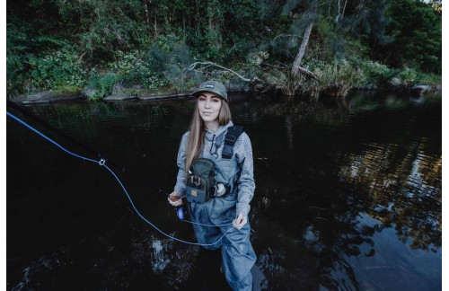 Fly fishing girl. Pretty cool!