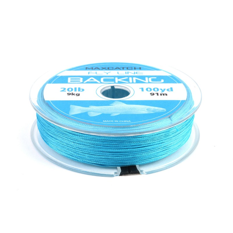 Fly line backing line for fly fishing 100yards 20 lb blue for 20 lb braided fishing line