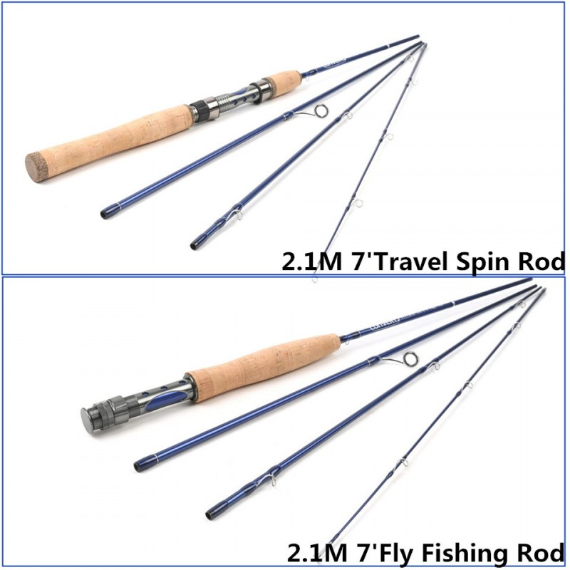Top quality 7ft 2 1m travel spain fly rod 5wt fast action for Best spinning rod for trout fishing