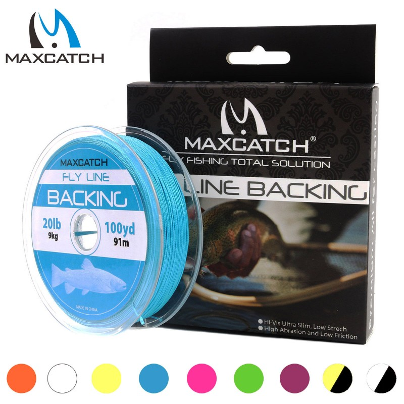 High Quality Braided Backing Line 100Yards 20LB with Box