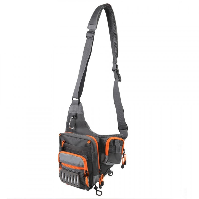 V cross 23 21 8 5 cm fishing bag waterproof multi function for Fly fishing sling pack