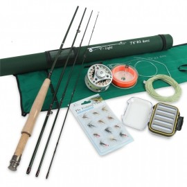 Best Quality Fly Fishing Rod Combo 7.6FT 3WT 4Pcs Fly Rod BLC 3/4WT Fly Reel with Fly Lines Combo