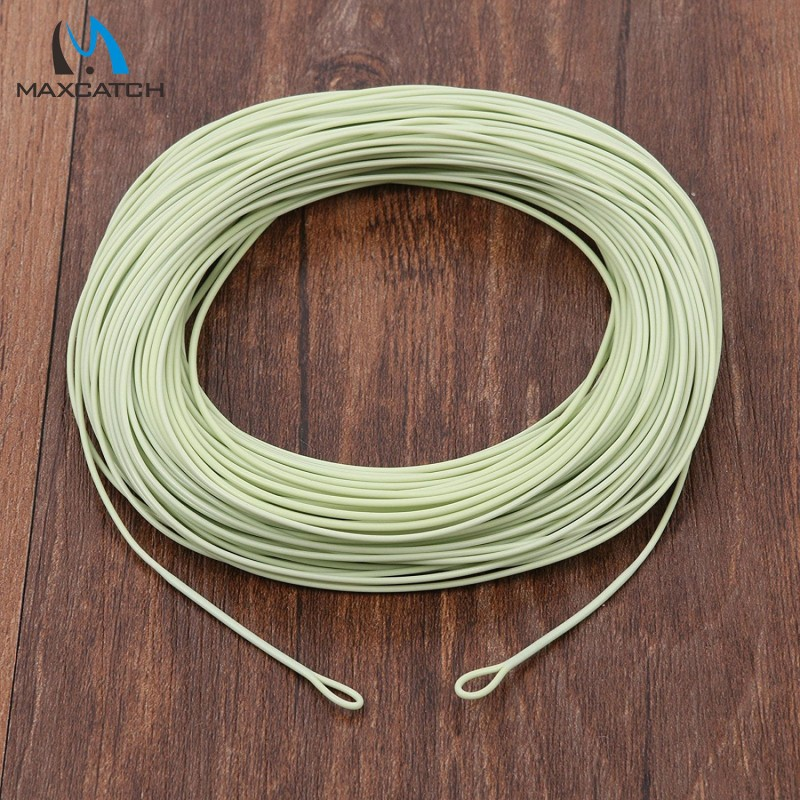 Forward Floating Fly Fishing Line 100ft 5wt Moss Green Fly