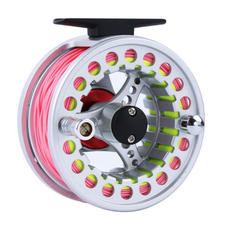 5wt fly fishing combo 9ft medium fast pink fly rod fly for Pink fishing reel
