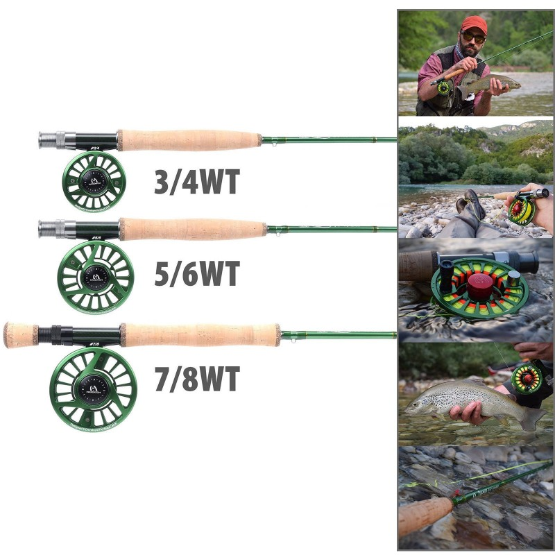 5wt fly fishing combo 9ft fly fishing rod 5 6wt aluminum for Fly fishing catalog