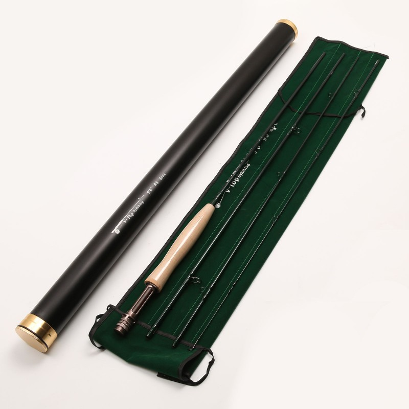 V top 9ft 4piece fast action fly fishing rod im12 for Fishing rod tubes