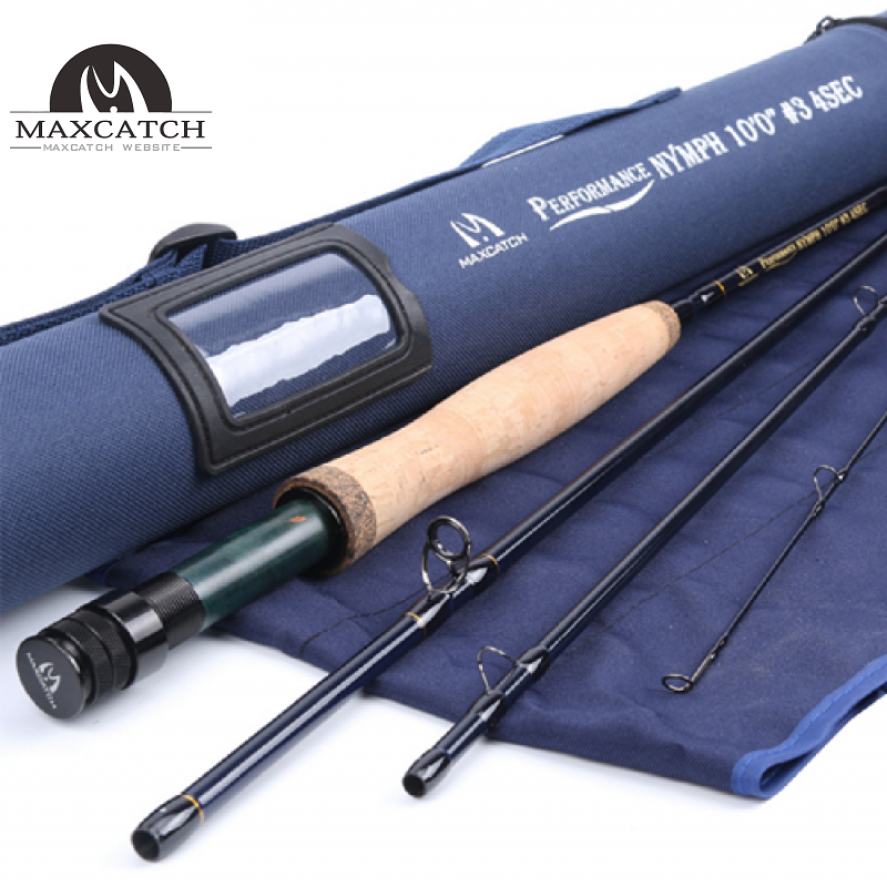 Performance Nymph Fly Fishing Rod Graphite Carbon Fiber with Cordura Tube