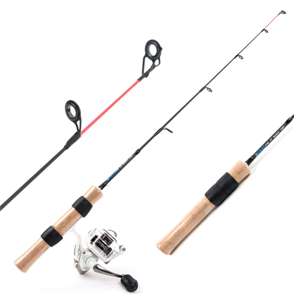 High Quality 69cm 24T+30T Carbon Fiber Medium Light Ice Fishing Rod