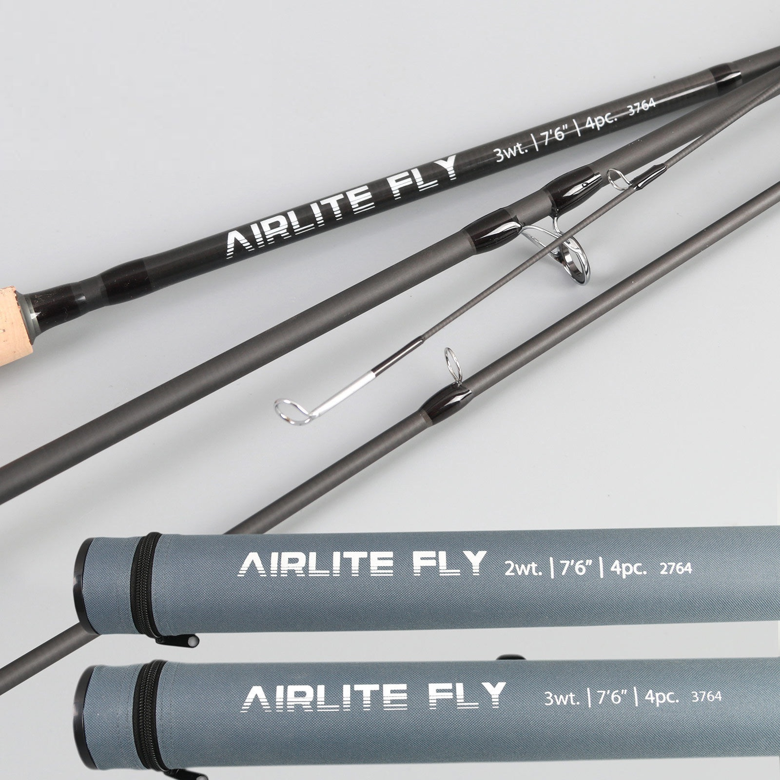 Top Grade Airlite 7'6'' Fly Fishing Rod Super Light Graphite Carbon Fiber Fly Rod