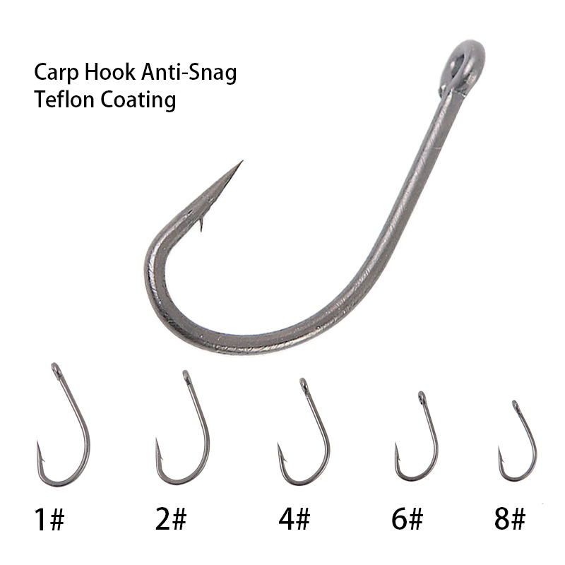 High Carbon Steel Carp Fishing Hair Rigs Anti-Snag