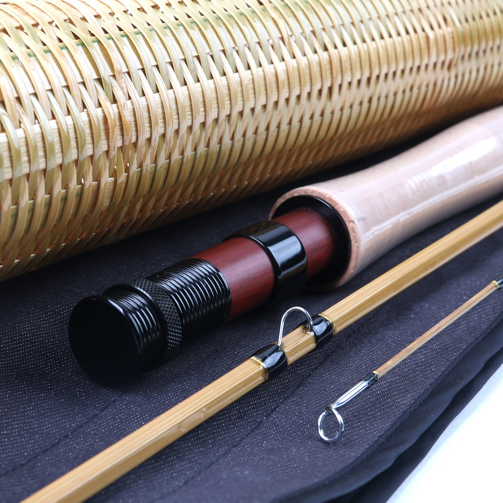 Split-cane Bamboo 8FT 6WT Fly Fishing Rod Unique Hand Made Rod