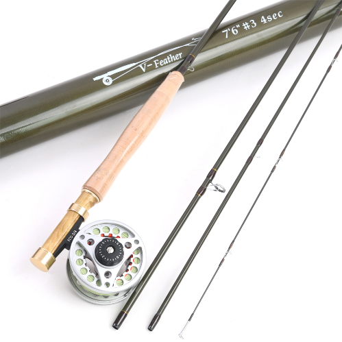 1/2/3 WT Fly Fishing Combo Carbon Fiber Fly Fishing Rod & Reel Fly Fishing Outfit