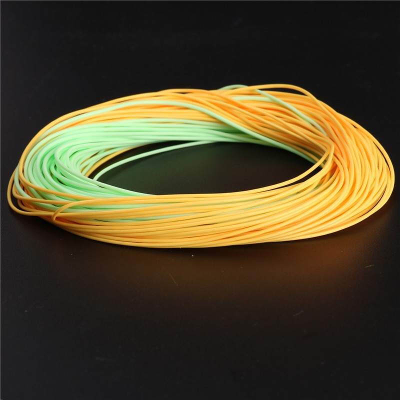 Double Color Weight Forward Floating Fly Fishing Line With Welded Loops 90FT Fishing Line Top Fly Line