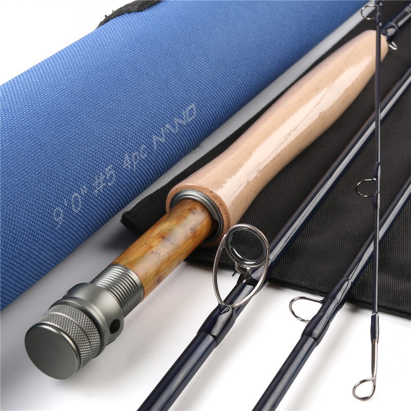 HVC 5/6 Nano 9054 , IM12 NANO carbon fiber fly fishing rod 9ft 5wt 4 sections, 5/6wt fly reel fly fishing combo