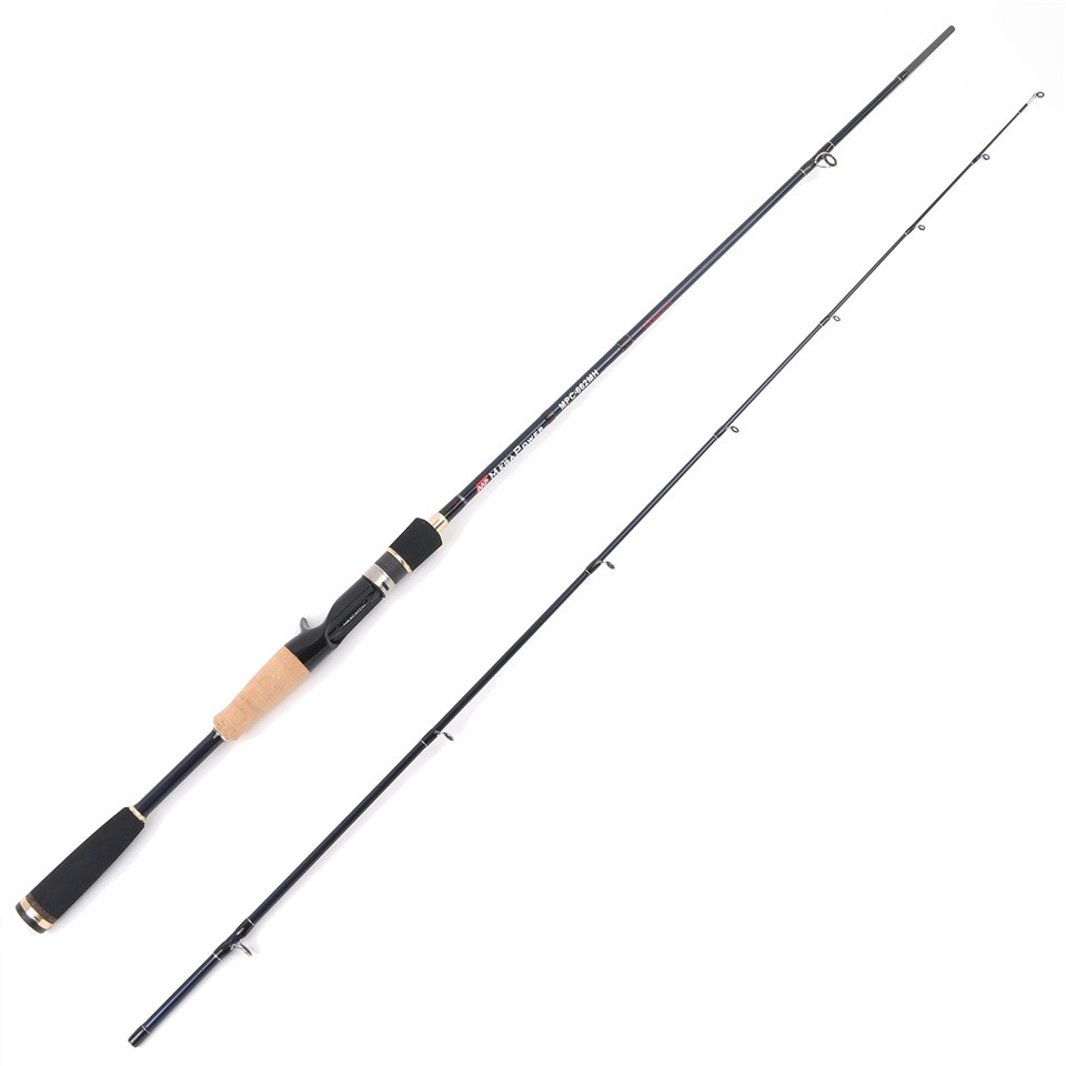 6'6'' 24T/IM6 Carbon Fiber Casting Fishing Rod MH 12-20lb Fast Action Megapower Casting Rod 2pcs Fishing Rod