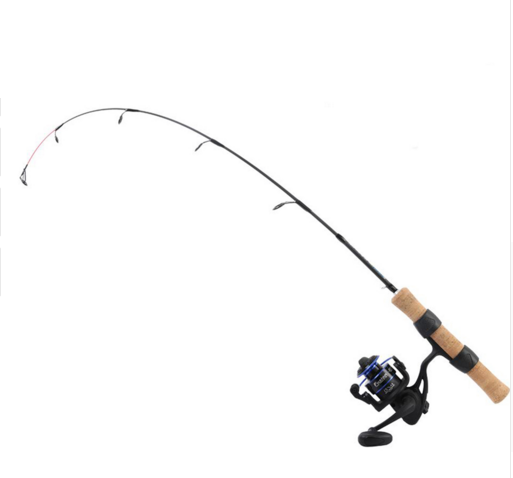 Maxcatch Spinning Ice Fishing Rod Carbon Fiber Blank with Ice Fishing Reel Outfit Gear Ratio 5.16:1