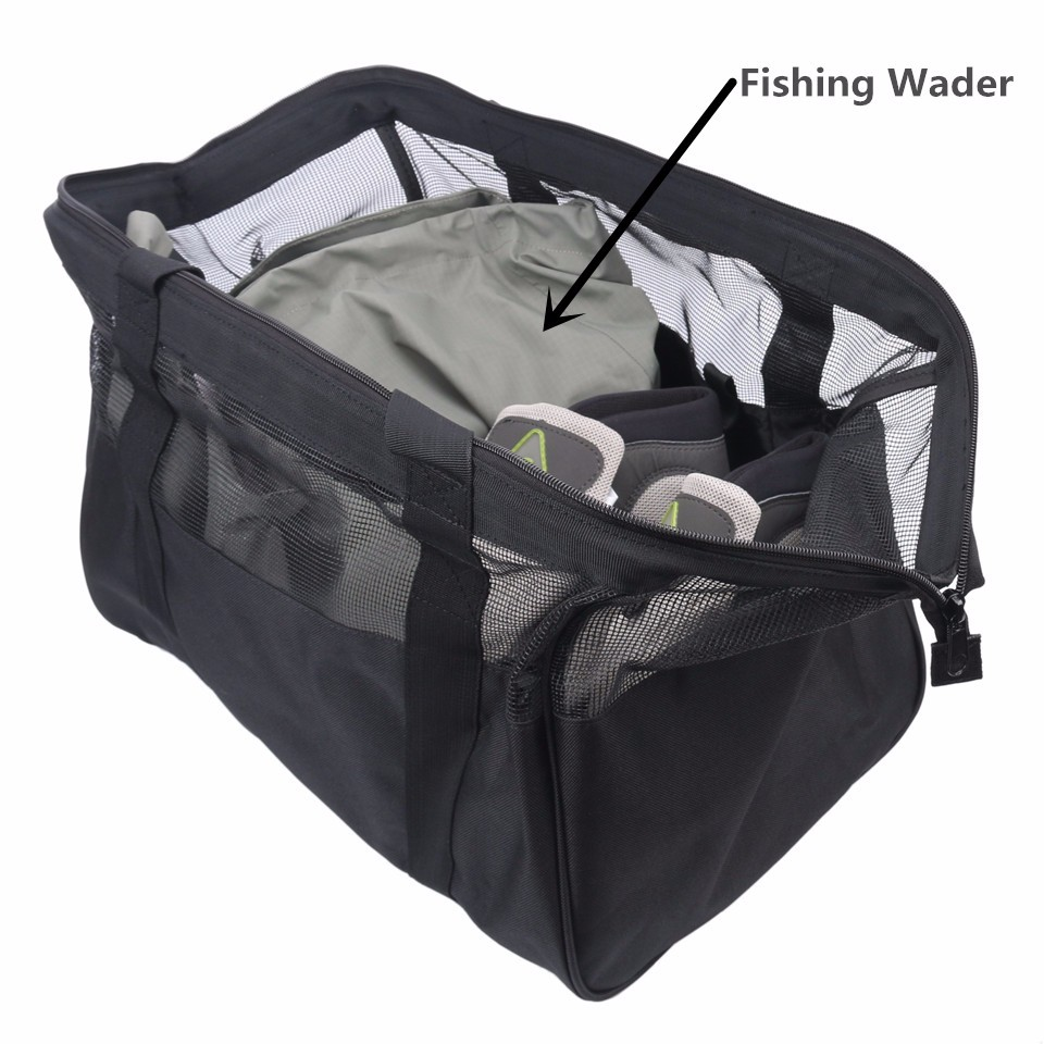 "Fishing Wader Bag PVC mesh venting (17.7"" x 11.8"" x 11.8"")"