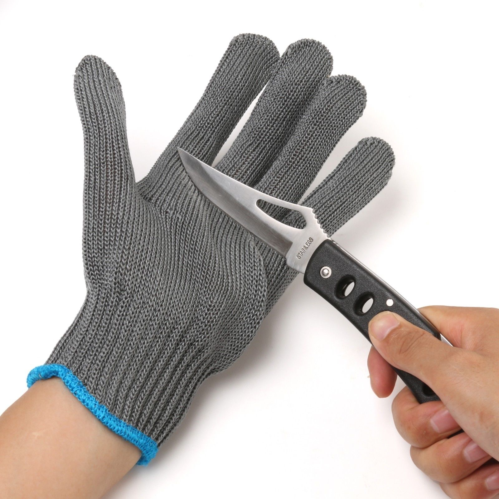 Thread Weave Cut Resistant Fillet Knife Glove Protective Anti Slip Fishing Gloves