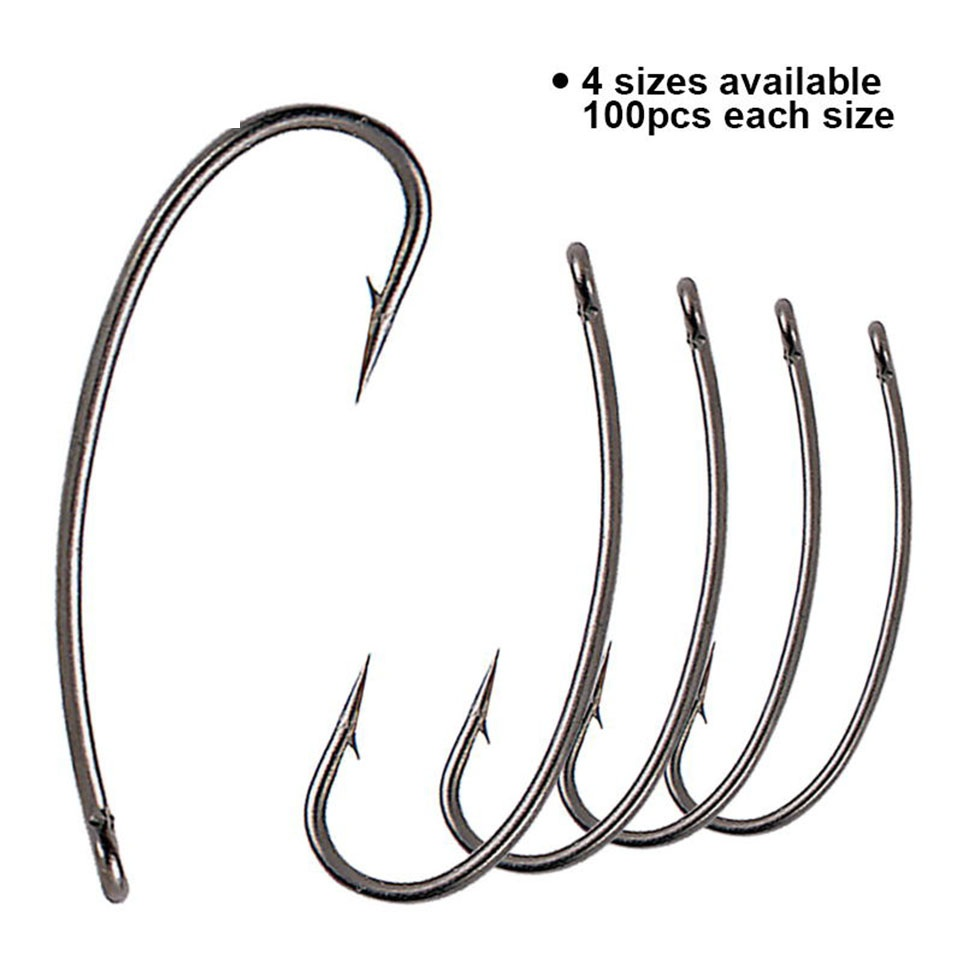 Maxcatch 100pcs/lot Turndown #2 #4 #6 #8 Carp Fishing Hook High Carbon Steel Carp Fishing Hair Rigs