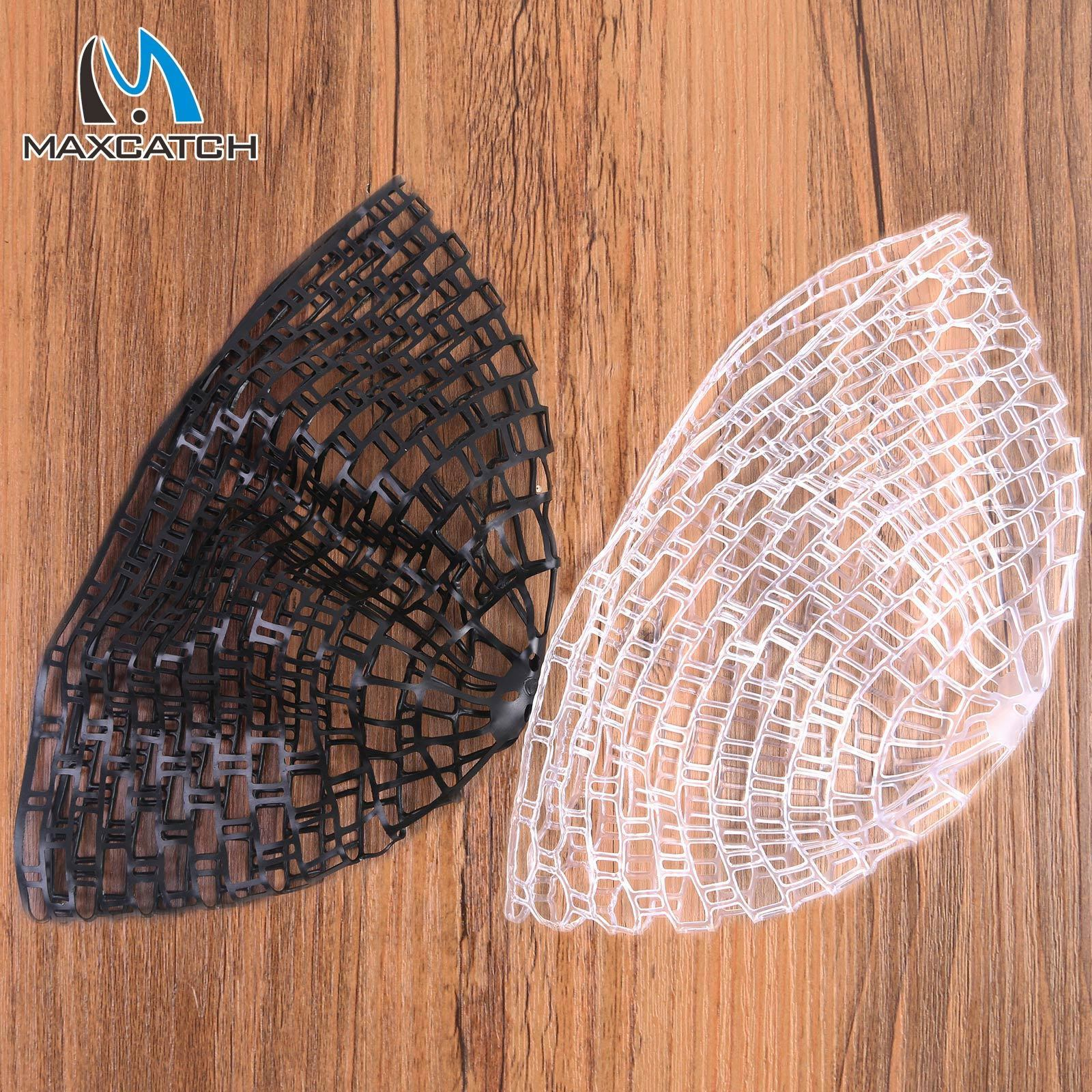 Fly Fishing Replacement Landing Net Black/Clear Rubber Fish landing Net