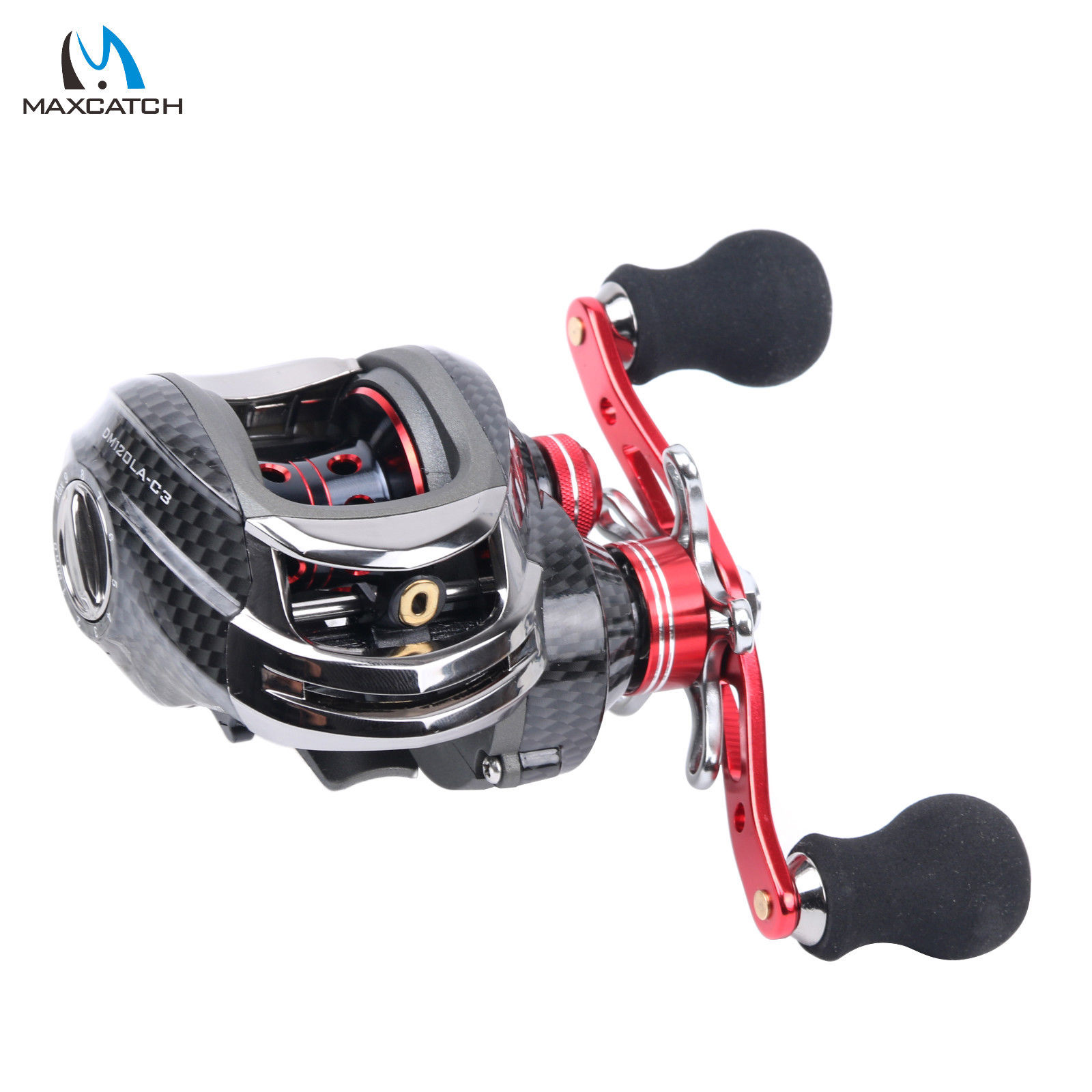 Baitcasting Fishing Reel Right Hand 6.3:1 11+1 Ball Bearings Casting Reel